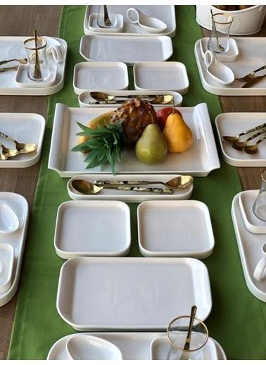 ROSSEV Kahvaltı Takımı Pure 66 Parça 6 Kişilik Renkli